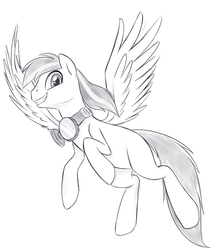 Size: 800x900 | Tagged: artist:jessy, aviator goggles, male, monochrome, oc, oc only, pegasus, pony, safe, solo, stallion