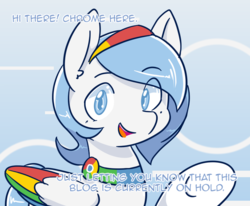 Size: 850x700 | Tagged: safe, artist:wishdreamstar, oc, oc:google chrome, pony, ask, askgooglechrome, browser ponies, google chrome, tumblr
