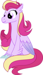 Size: 5364x9410   Tagged: safe, artist:babyroxasman, oc, oc only, oc:love muffin, hippogriff, hybrid, absurd resolution, colored wings, female, gradient wings, mare, ponygriff, show accurate, simple background, solo, transparent background, vector, waifu