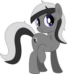 Size: 4206x4653 | Tagged: 2019 community collab, absurd res, artist:cyanlightning, chest fluff, derpibooru community collaboration, ear fluff, earth pony, female, mare, oc, oc:lili, oc only, pony, safe, simple background, skunk pony, solo, .svg available, transparent background, vector