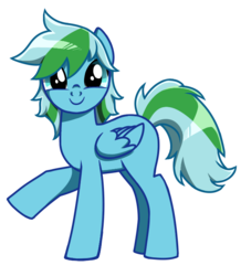 Size: 610x700 | Tagged: safe, oc, oc only, pegasus, pony, c:, cute, looking at you, raised hoof, simple background, smiling, solo, transparent background