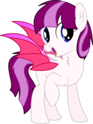 Size: 3861x5111 | Tagged: 2019 community collab, absurd res, artist:cyanlightning, bat pony, chest fluff, derpibooru community collaboration, ear fluff, female, mare, oc, oc only, open mouth, pony, safe, simple background, solo, spread wings, .svg available, transparent background, vector, wings