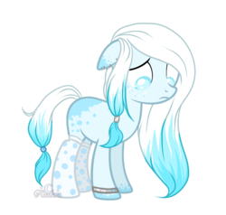 Size: 1024x973 | Tagged: artist:aledera, clothes, earth pony, female, mare, oc, oc:crescent snow, pony, safe, simple background, socks, solo, transparent background