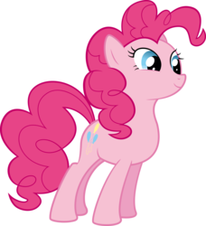 Size: 4819x5282 | Tagged: absurd res, .ai available, artist:redpandapony, pinkie pie, pony, safe, simple background, solo, transparent background, vector