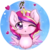 Size: 688x688   Tagged: safe, artist:tokokami, princess cadance, alicorn, pony, bust, chibi, cute, cutedance, female, heart, mare, mistletoe, one eye closed, simple background, solo, transparent background, wink