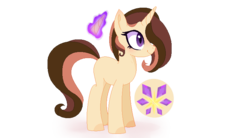 Size: 778x430 | Tagged: artist:verona-5i, female, mare, oc, oc:mirangen, offspring, parent:feather bangs, parent:rarity, pony, safe, simple background, solo, transparent background, unicorn