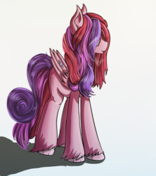 Size: 1777x2000 | Tagged: artist:apostolllll, hair over eyes, oc, oc only, pegasus, pony, safe, solo, source needed, unshorn fetlocks