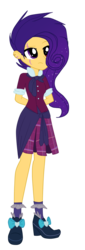 Size: 401x1180 | Tagged: artist:xxcutecookieswirlsxx, clothes, crystal prep academy uniform, equestria girls, oc, oc:shooting star, offspring, parent:flash sentry, parents:flashlight, parent:twilight sparkle, safe, scar, school uniform, simple background, solo, transparent background