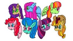 Size: 1920x1080 | Tagged: safe, hybrid, kirin, pony, unicorn, my little pony: the movie, sounds of silence, interspecies offspring, magical lesbian spawn, next gen mane six, next generation, offspring, parent:applejack, parent:autumn blaze, parent:capper, parent:fluttershy, parent:glitter drops, parent:pinkie pie, parent:princess skystar, parent:rainbow dash, parent:rarity, parent:spring rain, parent:tempest shadow, parent:twilight sparkle, parents:autumnjack, parents:capperity, parents:flutterdash, parents:skypie, parents:springdrops, parents:tempestlight