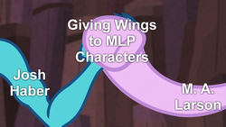 Size: 1280x720 | Tagged: celestial advice, edit, edited screencap, epic handshake, handshake, josh haber, magical mystery cure, m.a. larson, meme, molt down, princess ember, safe, screencap, starlight glimmer, text, thanks m.a. larson
