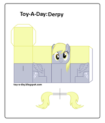 Size: 600x699 | Tagged: safe, artist:grapefruitface1, derpy hooves, pony, arts and crafts, craft, female, papercraft, printable, toy a day