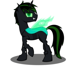 Size: 1300x1200 | Tagged: safe, artist:vampteen83, oc, oc:prince thorn, changeling, male, simple background, solo, transparent background