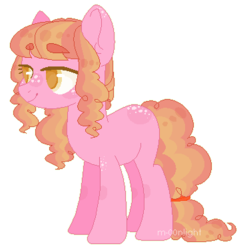 Size: 371x376   Tagged: safe, artist:m-00nlight, oc, earth pony, pony, female, magical lesbian spawn, mare, offspring, parent:applejack, parent:pinkie pie, parents:applepie, simple background, solo, transparent background