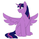 Size: 1568x1568 | Tagged: safe, artist:erroremma, twilight sparkle, alicorn, pony, flat color, missing cutie mark, simple background, solo, transparent background, twilight sparkle (alicorn)