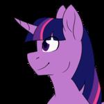 Size: 683x683 | Tagged: safe, artist:erroremma, twilight sparkle, alicorn, pony, bust, female, flat color, portrait, simple background, solo, transparent background, twilight sparkle (alicorn)