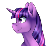 Size: 683x683 | Tagged: safe, artist:erroremma, twilight sparkle, alicorn, pony, bust, female, portrait, simple background, solo, twilight sparkle (alicorn), white background