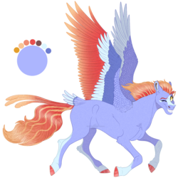 Size: 1252x1253 | Tagged: safe, artist:bijutsuyoukai, oc, oc only, pegasus, pony, blaze (coat marking), coat markings, colored wings, female, mare, multicolored wings, one eye closed, parent:bow hothoof, parent:windy whistles, parents:windyhoof, realistic horse legs, simple background, socks (coat marking), solo, tail feathers, transparent background, wink