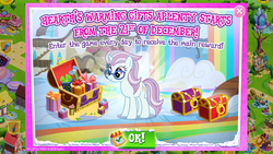 Size: 1280x720 | Tagged: safe, hoofer steps, north point, advertisement, daily login, female, gameloft, magic mirror, mare, official