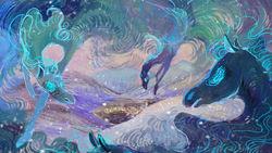 Size: 800x450   Tagged: safe, artist:wolfiedrawie, windigo, snow, winter