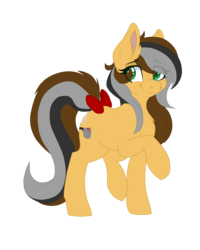 Size: 4000x5000 | Tagged: 2019 community collab, artist:red_moonwolf, bow, chest fluff, derpibooru community collaboration, earth pony, oc, oc only, oc:steaming stove, pony, safe, simple background, smiling, solo, tail bow, transparent background