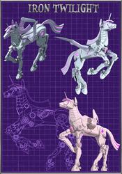 Size: 1024x1467 | Tagged: safe, artist:wangkingfun, twilight sparkle, alicorn, pony, robot, robot pony, 3d, autocad, female, machine, mecha, roboticization, twibot, twilight sparkle (alicorn), wangs