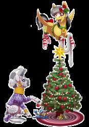 Size: 2570x3700 | Tagged: safe, artist:jackiebloom, daring do, zecora, oc, oc:kinyume, hybrid, pony, zony, baby, baby pony, christmas, christmas tree, clothes, cute, daring dorable, daringcora, female, flying, holiday, interspecies offspring, lesbian, magical lesbian spawn, offspring, parent:daring do, parent:zecora, parents:daringcora, shipping, simple background, socks, striped socks, transparent background, tree