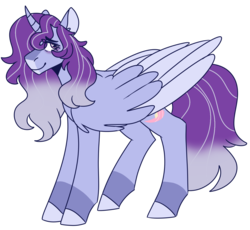 Size: 1266x1167 | Tagged: alicorn, artist:unicorn-mutual, magical lesbian spawn, male, oc, oc:cygnus stardust, oc only, offspring, parent:starlight glimmer, parents:twistarlight, parent:twilight sparkle, pony, safe, simple background, solo, stallion, transparent background