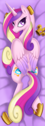 Size: 1024x2882 | Tagged: alicorn, artist:okapifeathers, body pillow, body pillow design, female, looking at you, looking back, mare, pony, princess cadance, safe, solo