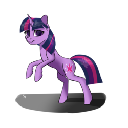 Size: 1000x1000 | Tagged: safe, artist:5oussn, twilight sparkle, pony, unicorn, female, looking at you, simple background, solo, transparent background, unicorn twilight