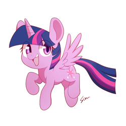 Size: 800x800 | Tagged: alicorn, artist:sion, cute, female, pony, safe, simple background, solo, twiabetes, twilight sparkle, twilight sparkle (alicorn), white background