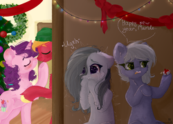 Size: 7000x5000 | Tagged: safe, artist:colorochka, big macintosh, limestone pie, marble pie, sugar belle, earth pony, pony, unicorn, best gift ever, 3:, absurd resolution, belly button, boop, cheek fluff, chest fluff, christmas, christmas tree, crying, ear fluff, eyes closed, female, fluffy, frown, heart, heartbroken marble, holiday, hoof hold, leg fluff, lidded eyes, looking at something, male, mare, messy mane, neck fluff, noseboop, nuzzling, open mouth, raised hoof, sad, shipping, shipping denied, shivering, side chick, smiling, stallion, straight, sugarmac, tree, wide eyes