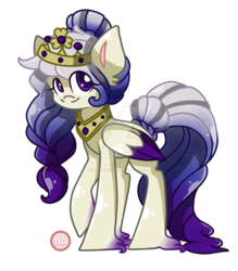 Size: 1024x1169 | Tagged: safe, artist:sk-ree, oc, oc:marquise de la morte, pegasus, pony, colored wings, deviantart watermark, female, folded wings, jewelry, looking at you, looking sideways, mare, obtrusive watermark, peytral, simple background, smiling, solo, three quarter view, tiara, transparent background, two toned wings, unshorn fetlocks, watermark, wings