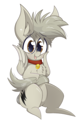 Size: 1313x2040 | Tagged: safe, artist:dragonpone, derpibooru exclusive, oc, oc only, oc:bolt the super pony, pegasus, pony, 2019 community collab, derpibooru community collaboration, chest fluff, collar, ear fluff, looking at you, male, open mouth, simple background, sitting, smiling, solo, stallion, transparent background, wing hands
