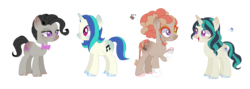 Size: 1418x506 | Tagged: artist:m-meliaa, dj pon-3, family, female, lesbian, magical lesbian spawn, octavia melody, offspring, parent:octavia melody, parents:scratchtavia, parent:vinyl scratch, safe, scratchtavia, shipping, vinyl scratch