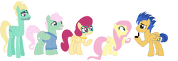 Size: 3024x1036 | Tagged: artist:ilovegreendeathsalot, family, female, flash sentry, flutterflash, fluttershy, male, mr. shy, mrs. shy, proposal, safe, shipping, straight, zephyr breeze