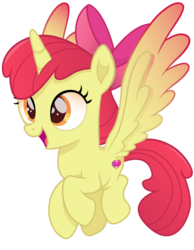 Size: 787x1016 | Tagged: safe, artist:joemasterpencil, apple bloom, alicorn, alicornified, bloomicorn, cutie mark, movie accurate, race swap, solo, spread wings, the cmc's cutie marks, this will end in tears and/or death and/or covered in tree sap, tiny cutie mark, vector, wings