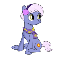 Size: 4600x3450 | Tagged: safe, artist:dumbwoofer, burning passion, earth pony, pony, best gift ever, background pony, clothes, cute, earmuffs, female, mare, scarf, solo