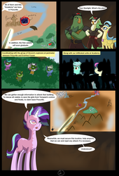Size: 4750x7000 | Tagged: absurd res, adventure, alternate hairstyle, alternate timeline, alternate universe, alternate version, artist:chedx, bon bon, captain celaeno, comic, comic:the storm kingdom, fantasy, lyra heartstrings, my little pony: the movie, princess skystar, safe, starlight glimmer, sweetie drops, zecora