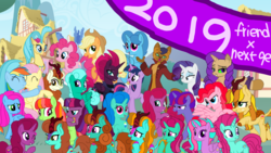 Size: 1920x1080 | Tagged: safe, artist:徐詩珮, applejack, autumn blaze, capper dapperpaws, fizzlepop berrytwist, fluttershy, glitter drops, pinkie pie, princess skystar, rainbow dash, rarity, spring rain, tempest shadow, twilight sparkle, oc, abyssinian, alicorn, anthro, hippogriff, hybrid, kirin, my little pony: the movie, sounds of silence, 2019, alicornified, autumnjack, capperity, clothes, coat, cowboy hat, eye scar, female, flutterdash, glitterblaze, glittershadow, happy new year 2019, hat, interspecies offspring, kirin oc, lesbian, magical lesbian spawn, male, mane six, next gen mane six, next generation, offspring, parent:applejack, parent:autumn blaze, parent:capper, parent:fluttershy, parent:glitter drops, parent:pinkie pie, parent:princess skystar, parent:rainbow dash, parent:rarity, parent:spring rain, parent:tempest shadow, parent:twilight sparkle, parents:autumnjack, parents:capperity, parents:flutterdash, parents:glitterblaze, parents:glittershadow, parents:skypie, parents:springdrops, parents:springshadow, parents:tempestlight, race swap, scar, shipping, skypie, springdrops, springshadow, straight, tempest shadow's friends, tempestlight, twilight sparkle (alicorn)