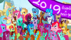 Size: 1920x1080 | Tagged: safe, artist:徐詩珮, applejack, autumn blaze, capper dapperpaws, fizzlepop berrytwist, fluttershy, glitter drops, pinkie pie, princess skystar, rainbow dash, rarity, spring rain, tempest shadow, twilight sparkle, alicorn, hybrid, my little pony: the movie, sounds of silence, 2019, autumnjack, capperity, female, flutterdash, glitterblaze, glittershadow, half-siblings, happy new year 2019, interspecies offspring, lesbian, magical lesbian spawn, male, mane six, next gen mane six, next generation, offspring, parent:applejack, parent:autumn blaze, parent:capper, parent:fluttershy, parent:glitter drops, parent:pinkie pie, parent:princess skystar, parent:rainbow dash, parent:rarity, parent:spring rain, parent:tempest shadow, parent:twilight sparkle, parents:autumnjack, parents:capperity, parents:flutterdash, parents:glitterblaze, parents:glittershadow, parents:skypie, parents:springdrops, parents:springshadow, parents:tempestlight, shipping, sisters, skypie, springdrops, springshadow, straight, tempest shadow's friends, tempestlight, twilight sparkle (alicorn)