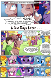 Size: 1800x2740 | Tagged: alicorn, artist:candyclumsy, big macintosh, cheerilee, comedy, comic, comic:fusing the fusions, comic:mlp: education reform, commissioner:bigonionbean, female, flash sentry, fusion, fusion:king speedy hooves, fusion:queen galaxia, human, human oc, male, mare, ms. harshwhinny, oc, oc:king speedy hooves, oc:queen galaxia, oc:tommy the human, potion, princess cadance, princess celestia, princess luna, safe, shining armor, spitfire, stallion, trixie, trouble shoes, twilight sparkle, writer:bigonionbean