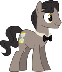 Size: 1024x1194 | Tagged: artist:du-sk, bowtie, earth pony, eleventh doctor, male, pony, raggedy doctor, safe, simple background, solo, stallion, transparent background
