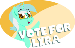 Size: 1982x1292 | Tagged: artist:binkyt11, derpibooru, derpibooru exclusive, female, looking at you, lyra heartstrings, mare, medibang paint, meta, pony, safe, simple background, solo, the great derpi election of 2018, transparent background, unicorn, voting