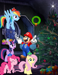 Size: 1948x2514 | Tagged: alicorn, amulet, artist:aethon056, artist:luckreza8, artist:selenaede, artist:user15432, candy, candy cane, christmas, christmas lights, christmas ornament, christmas ponies, christmas presents, christmas star, christmas tree, christmas wreath, crossover, crown, decoration, fairy, fairy wings, fluttershy, food, gingerbread, hasbro, hasbro studios, holiday, jewelry, lights, magic, magic aura, magic of christmas, maridash, mario, mariopie, marioshy, necklace, nintendo, ornament, ornaments, pinkie pie, present, rainbow dash, regalia, royal stickers, safe, stars, super mario bros., super smash bros., tree, twilight sparkle, twilight sparkle (alicorn), wings, wreath