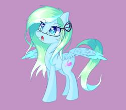 Size: 1280x1123 | Tagged: safe, artist:kawaiipony2, oc, oc only, oc:amaranthine sky, pegasus, pony, female, glasses, mare, simple background, solo