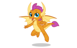 Size: 1280x800 | Tagged: safe, smolder, dragon, claws, cute, dragon wings, fangs, flying, horns, male, rule 63, simple background, smolder (male), smolderbetes, solo, transparent background, vector, wings