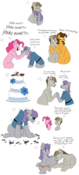 Size: 1850x4060 | Tagged: artist:pastel-charms, book, boulder (pet), cake, cargo ship, cheese sandwich, female, food, male, maudbriar, maud pie, mudbriar, pinkie pie, pony, pregnant, rock, safe, shipping, stick and stone, straight, twiggy (pet), wedding cake