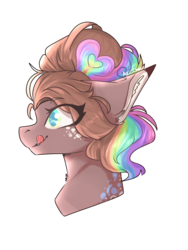 Size: 768x1024 | Tagged: artist:akiiichaos, bust, earth pony, female, mare, oc, oc:bee, pony, portrait, safe, simple background, solo, transparent background