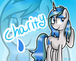 Size: 1280x1024 | Tagged: artist:technoponywardrobe, blue background, cute, desktop background, oc, oc:charity seashell, safe, simple background, solo, wallpaper, zoom layer