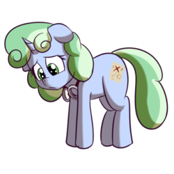 Size: 512x512 | Tagged: safe, artist:anibaruthecat, oc, oc only, oc:sweetwater, pony, unicorn, expressions, female, filly, goggles, sad, sticker